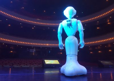 Robot on stage for an event