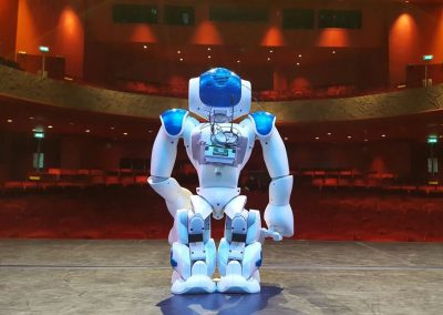 robot on stage