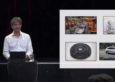 Professor Gusz Eiben, Spreker over kunstmatige intelligentie en robots